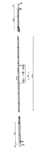 Kfv Slave Lock With Attachments For Shootbolts Upvc Door